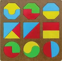 Puzzle Edukasi Anak Pecahan Geometri