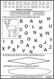 Atividade legal de alfabetização V