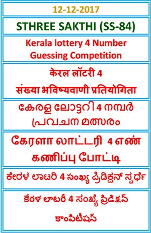 4 Number Guessing Competition STHREE SAKTHI SS-84