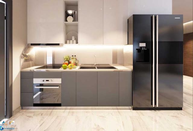Phòng bếp Gem Riverside quận 2 được trang bị những thiết bị cao cấp