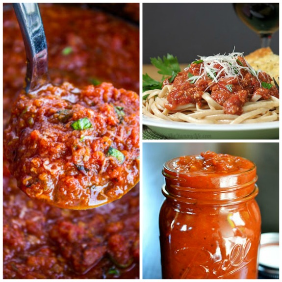 The BEST From-Scratch Slow Cooker Pasta Sauce Recipes found on SlowCookerFromScratch.com