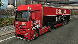Mercedes Actros MP4 Brico Depot skin + trailer