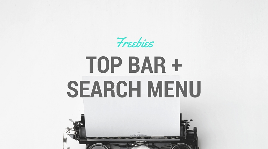 codice per inserire la Barra top + Search box