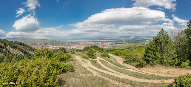 Bitola city Panorama - view from Neolica Hiking Trail