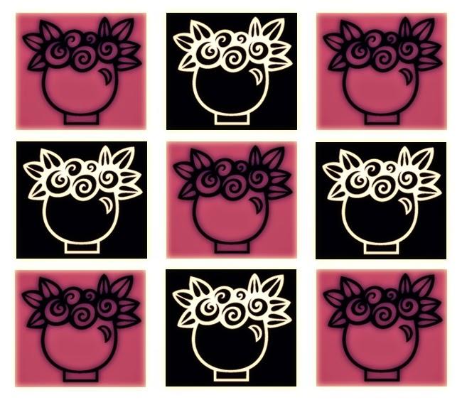 Inchie Grafik pink-schwarz