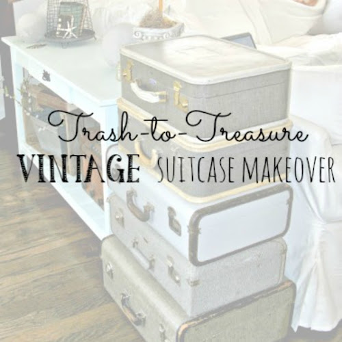 Trash-to-Treasure - Vintage Suitcase Makeover