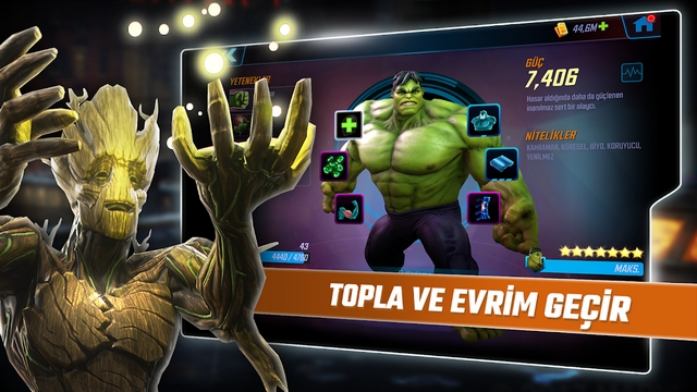 marvel strike force hileli apk indir