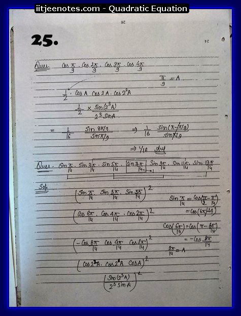 maths class 11 notes quadratic equation4