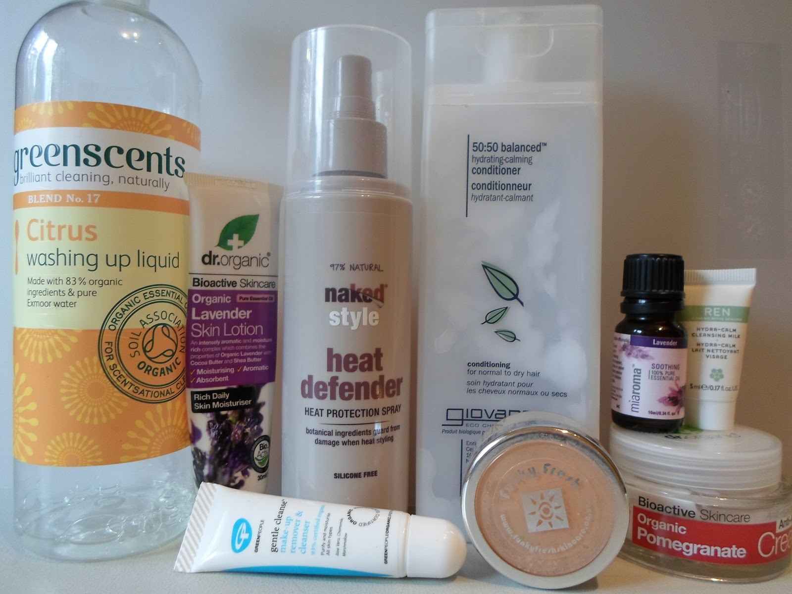 November Empties featuring Greenscents, Green People, Dr Organic, Giovanni