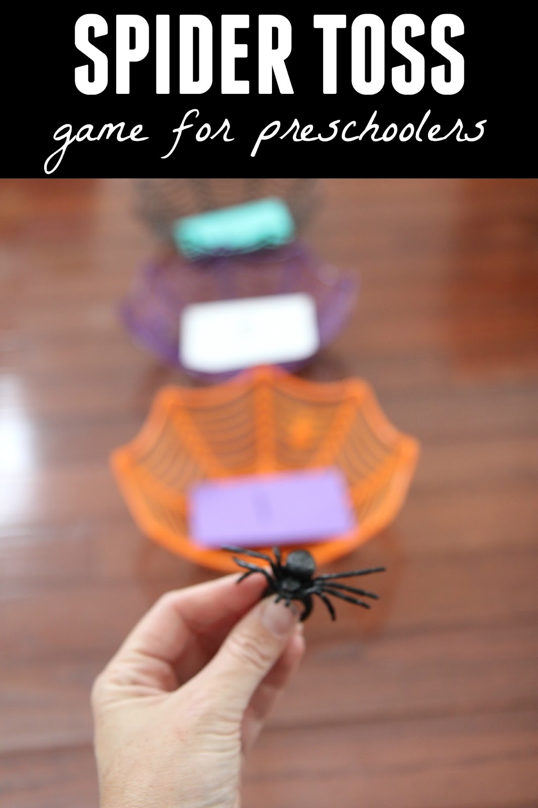 Games For 3 Year Olds: Toddler Approved!: Spider Toss Game For Preschoolers