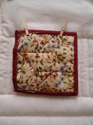 Mini quilt - back
