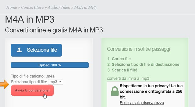 conversione-online-m4a-mp3