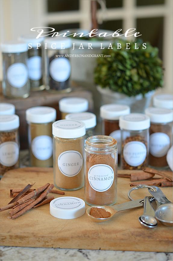 Free Printable Spice Jar Labels | www.andersonandgrant.com