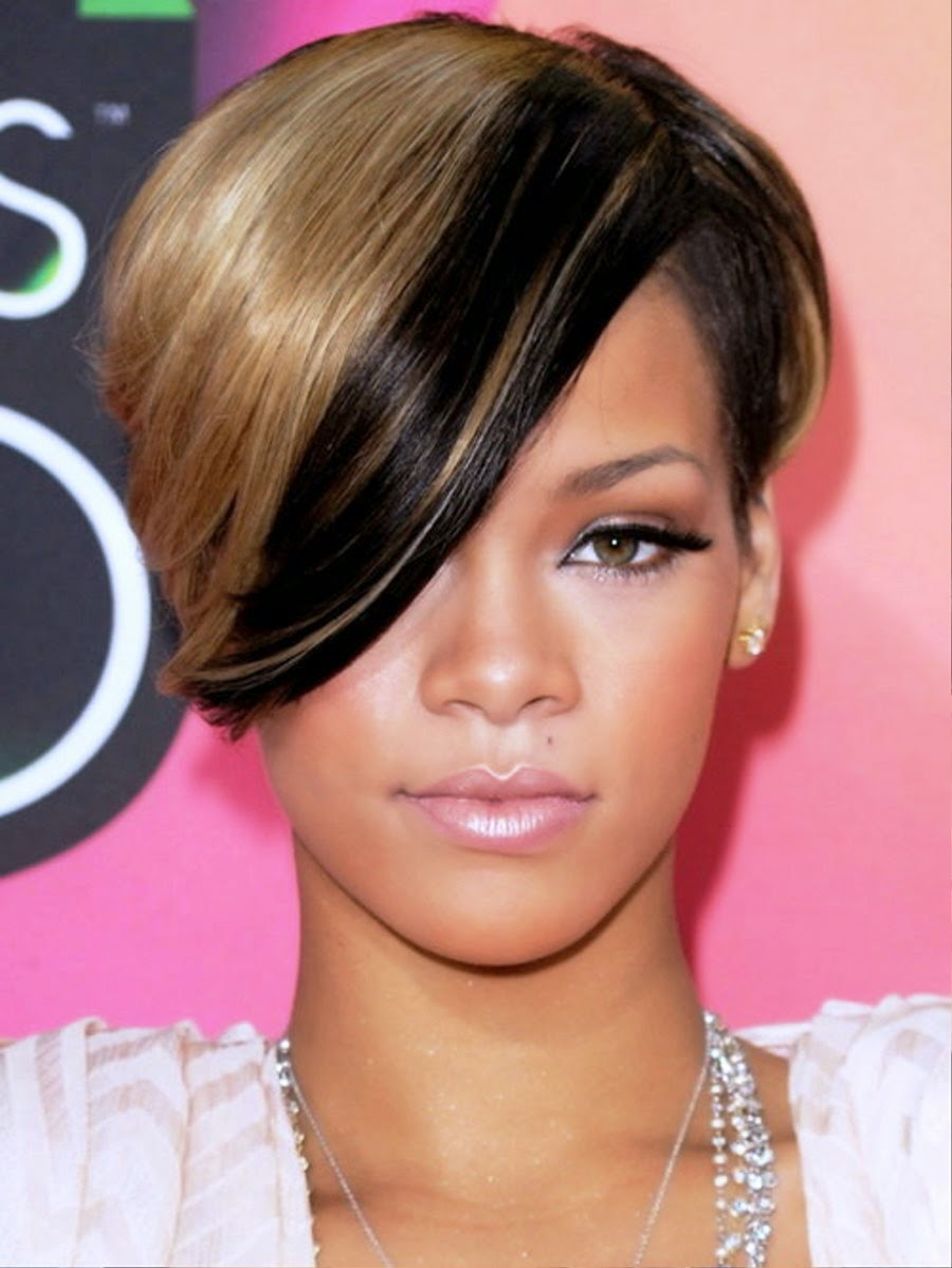 Excellent Rihanna39S Gorgeous Hairstyles Short Hairstyles For Black Women Fulllsitofus