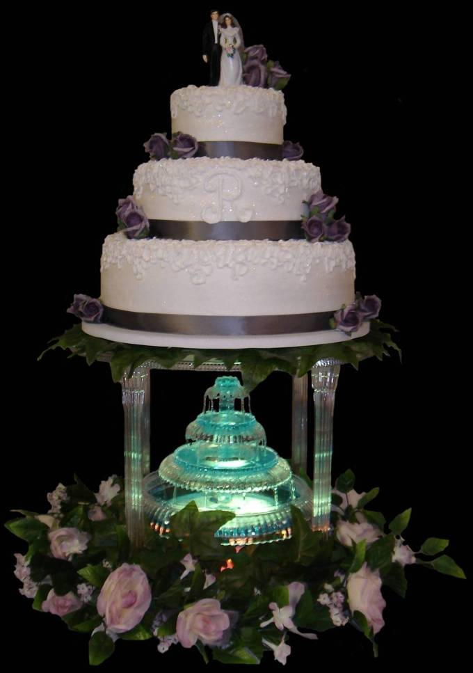 lighted wedding cake fountain wedding cakes with fountains 16863