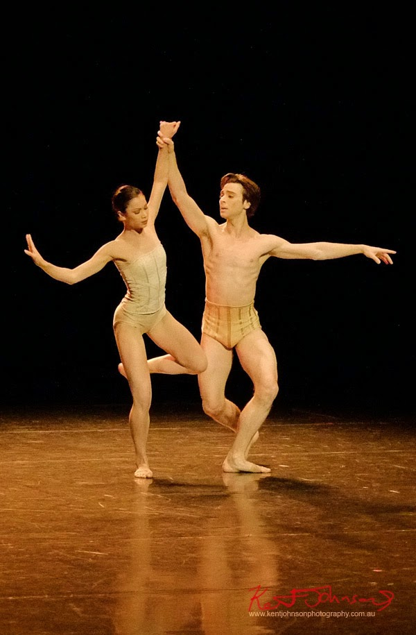 Male and Female leads, Petite Mort, The Australian Ballet - Preview & Dress Rehearsal - Photographed by Kent Johnson.