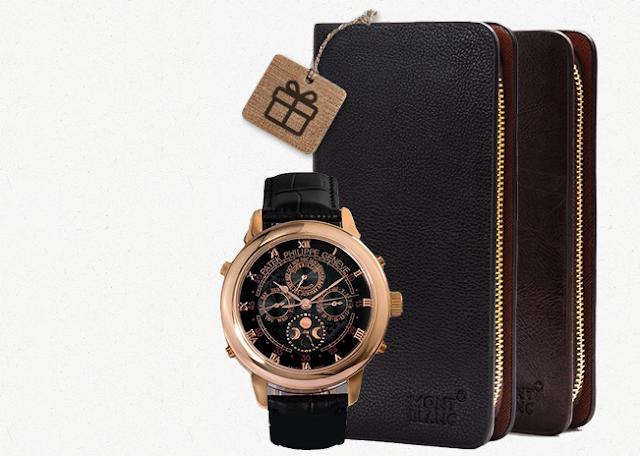 Комплект портмоне Montblanc и часы Patek Philippe в Нижневартовске