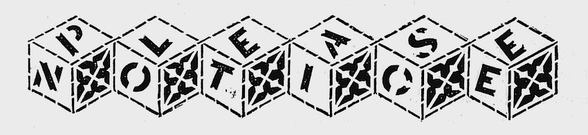 an advertising graphic from 1873, please notice, cubes blocks