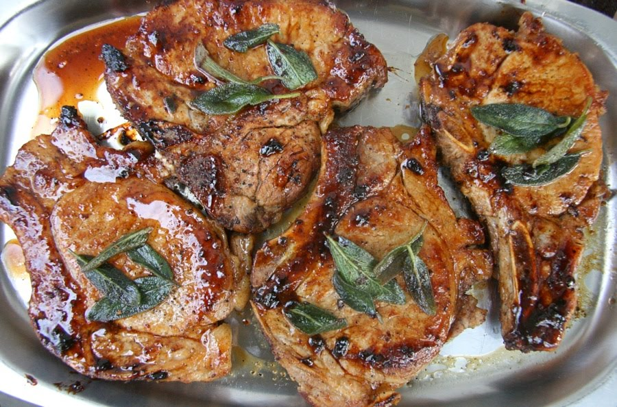 The Dogs Eat the Crumbs: Maple Glazed Pork Chops