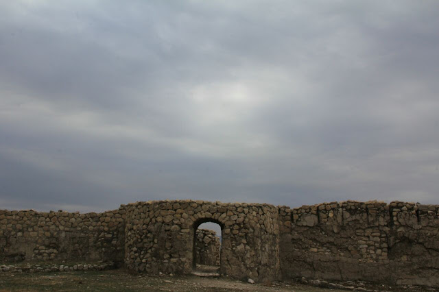 Stone arcs of Bishapur city in Kazerun.