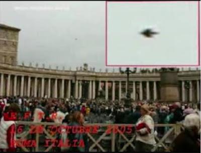 Το ίδιο το Βατικανό υπήρξε ο τόπος αρκετών  θεάσεων UFO
