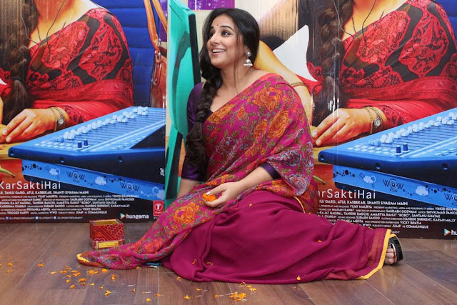 Vidya Balan Stills At Tumhari Sullu Movie Interview