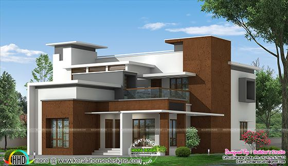 Box type modern home architecture plan