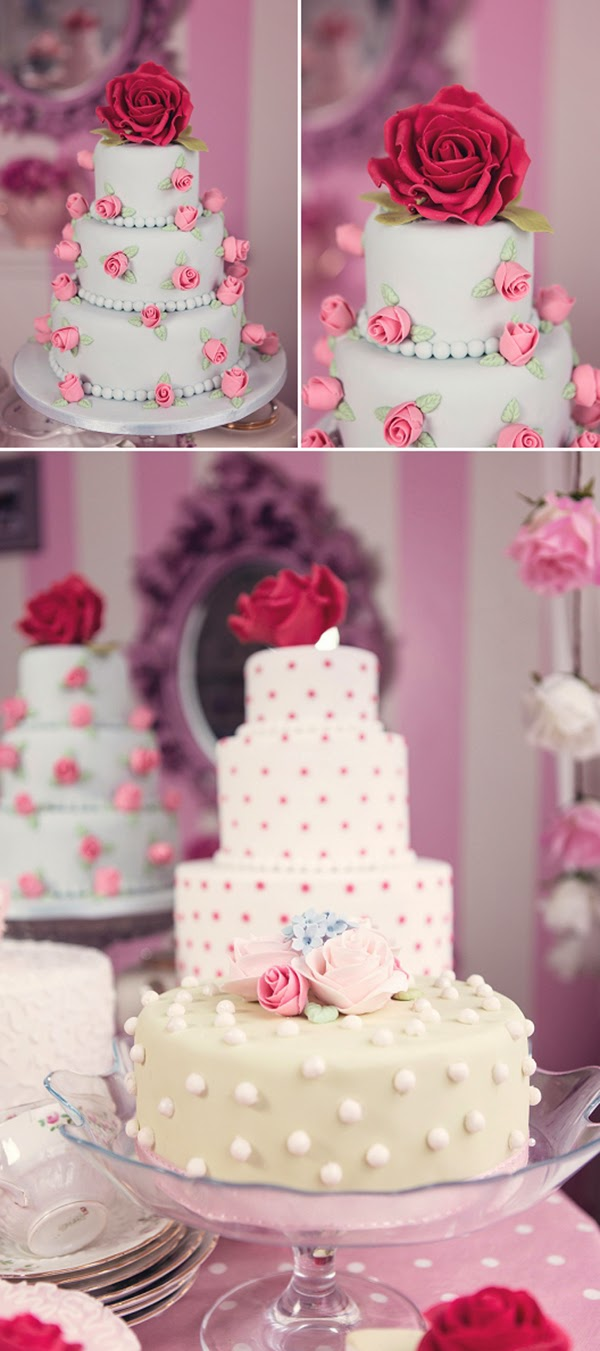 Tiered cath kidston inspired cake
