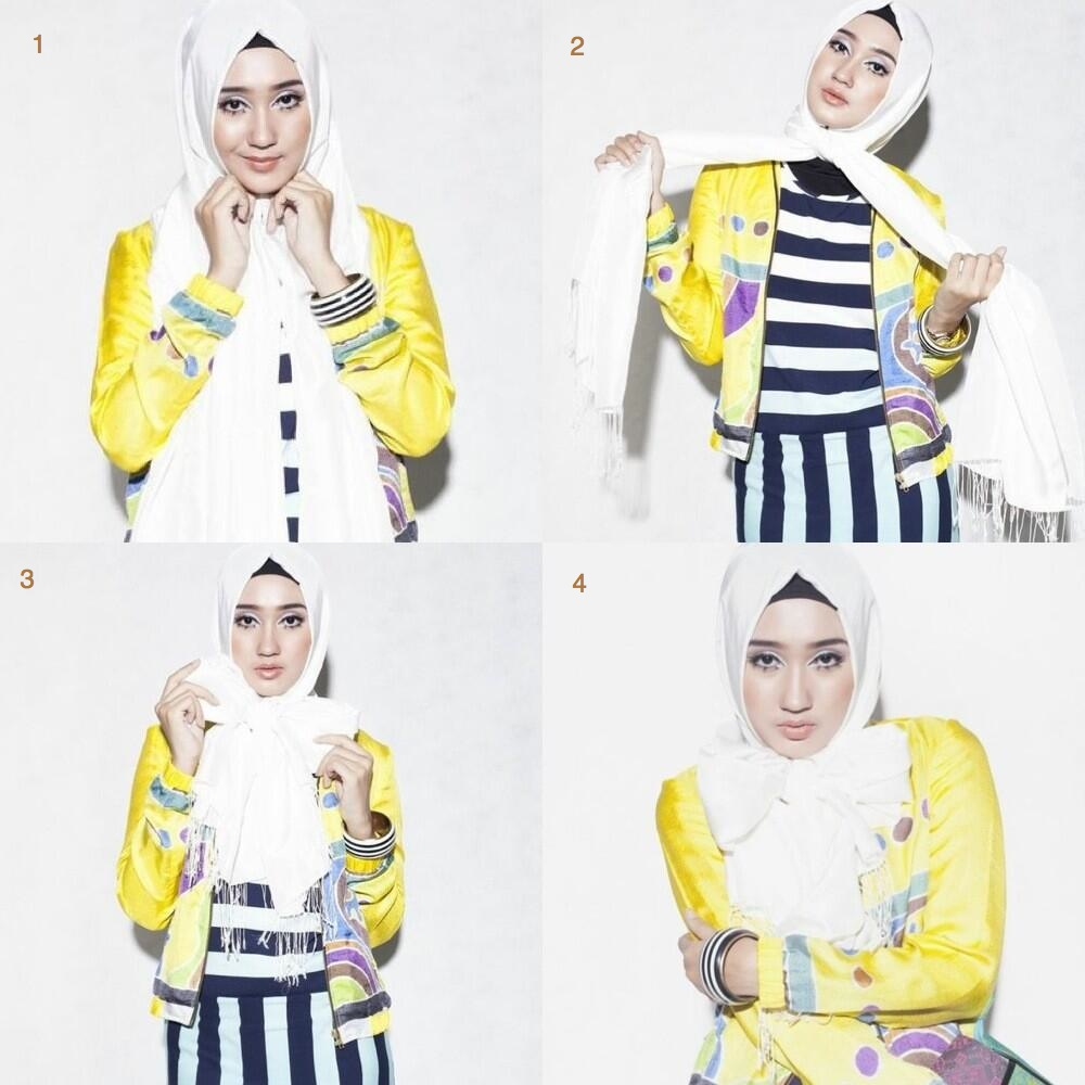 Tampil Cantik Dengan Tutorial Hijab Pasmina Praktis Dari Dian