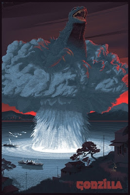 Godzilla Standard Edition Screen Print by Laurent Durieux