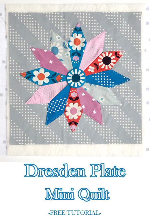 Dresden Plate Mini Quilt Free Tutorial designed by Melissa of Polkadot Chair