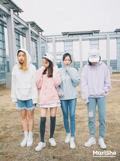 model Outfit musim hujan kekinianala korea