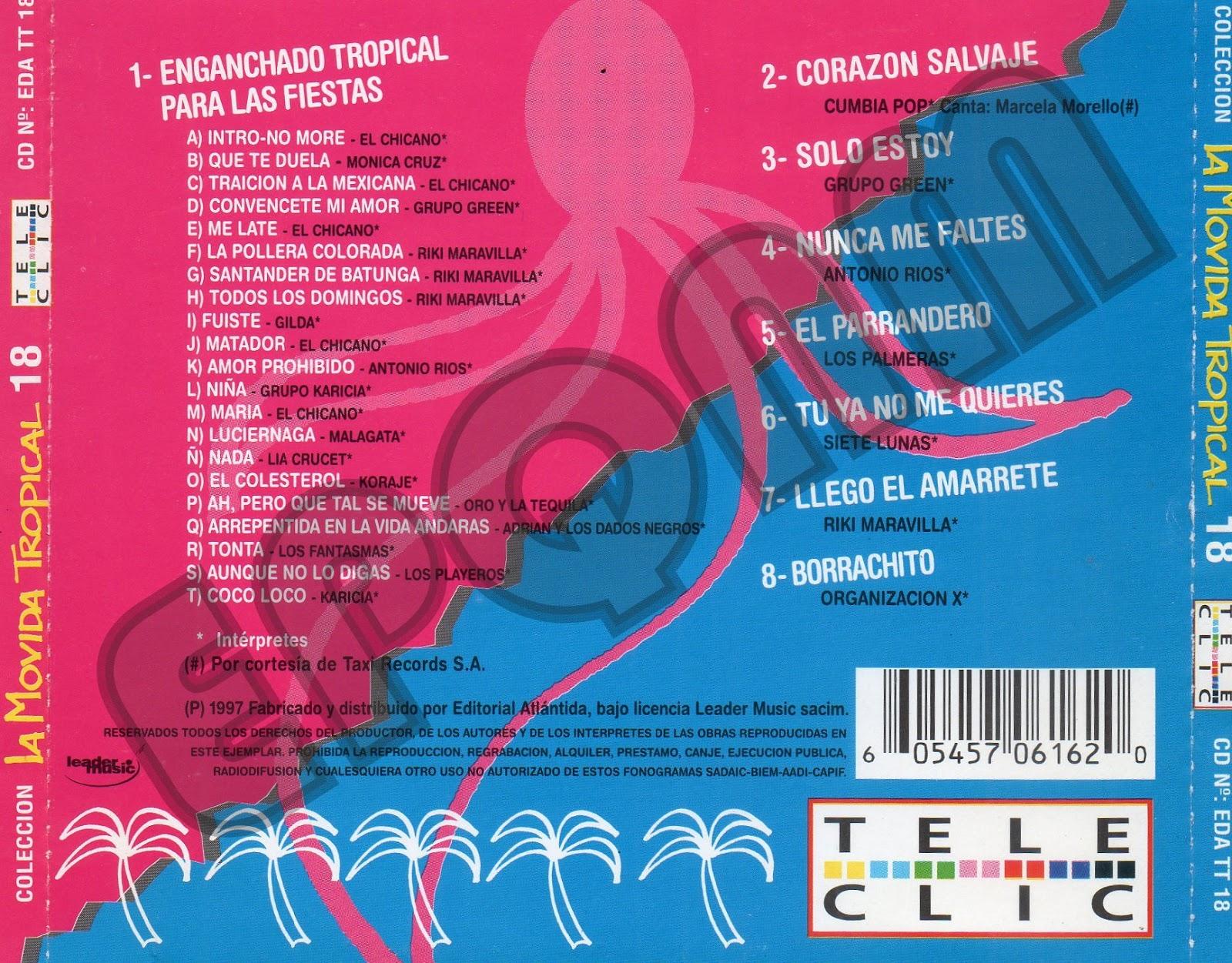 RECUERDOS SIEMPRE 1 - RS1: LA MOVIDA TROPICAL CD 18 1997