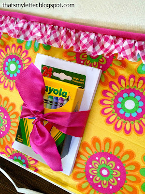 diy kids apron with pocket for craft supplies
