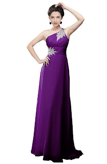 purple adorable long prom dress gowns for women
