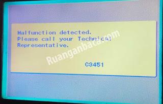 Cara Atasi Problem C3451 Fotocopy Bizhub 250/350