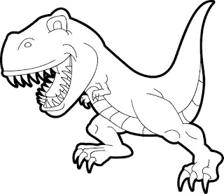 Scarry Dinosaur Coloring Pages Animals
