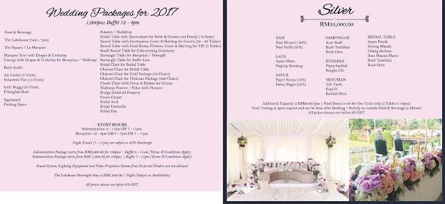 wedding menu malaysia