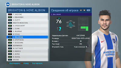 PES 2019 Facepack Brighton & Hove Albion by Andrey93
