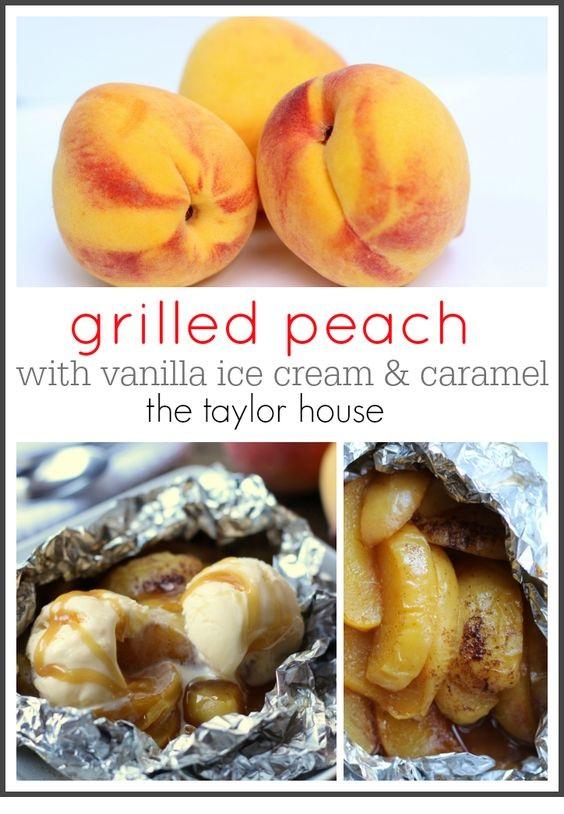 Grilled Peach Dessert (Tin Foil Dessert)
