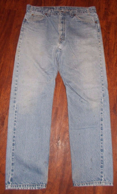 Men's Vintage Levi's 505 Denim Blue Jean's 38X32 100% Cotton Straight Leg Regular Fit