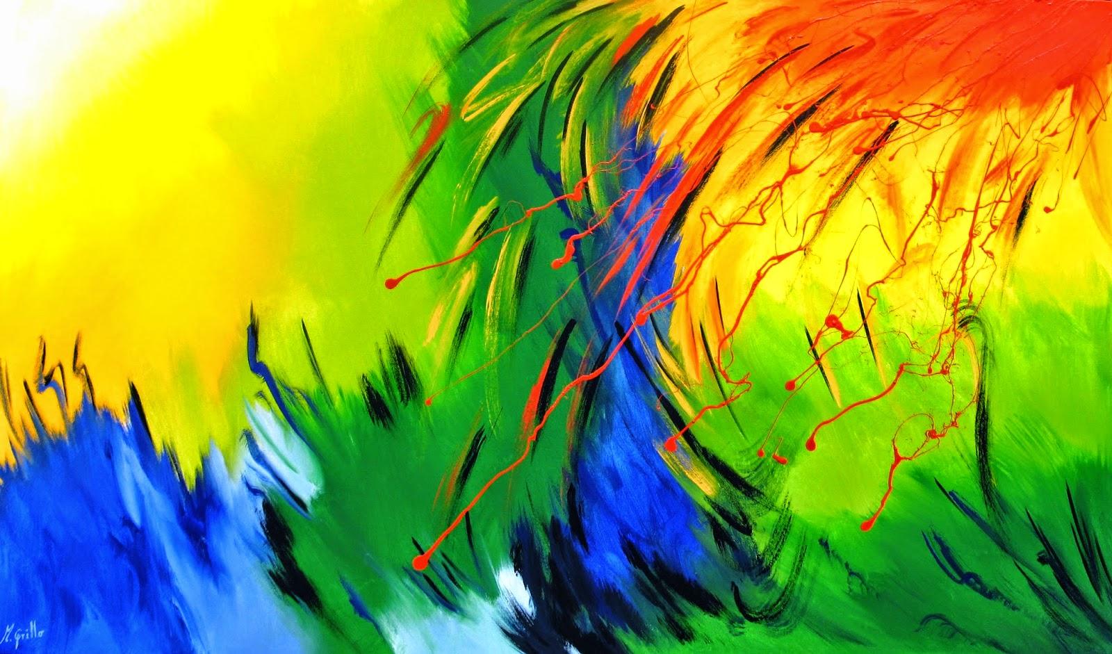 Cuadros abstractos faciles de hacer encuentra este pin y - Pintar un cuadro moderno ...