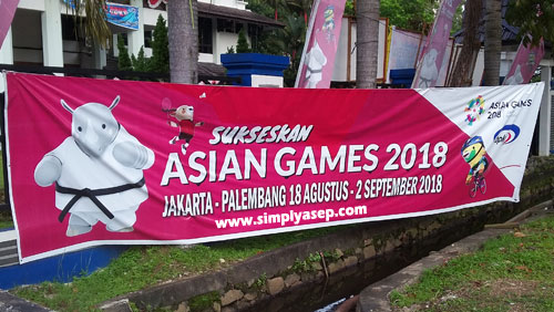 he 18th Asian Games Jakarta Palembang is also celebrated by all cities all across Indonesia. The Asian Games 2018 belongs together. Photo Asep Harypno/www.simplyasep.com