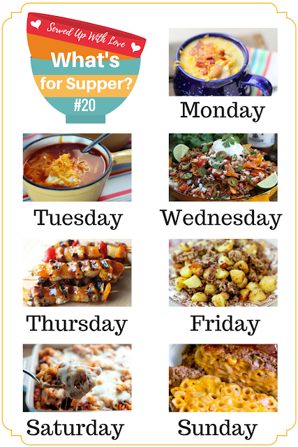 What's for Supper Sunday is jam packed with meal inspiration. From Hamburger Hash, Loaded Brisket Nachos, Hawaiian Chicken Skewers, and so much more.