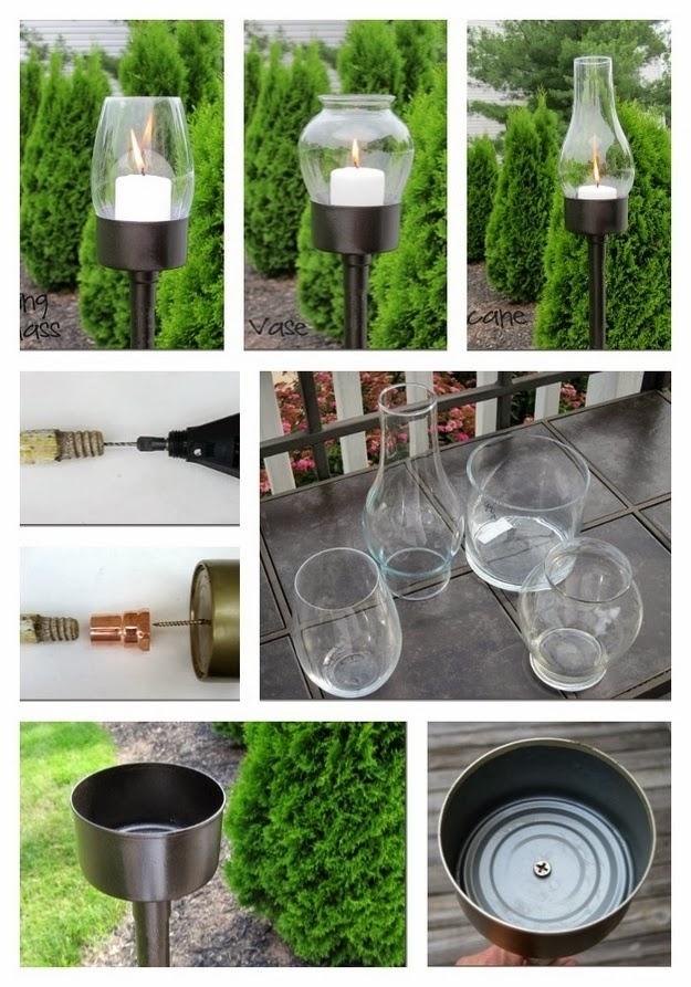 Reciclar lata de atum, lanternas para casamentos, castiçais