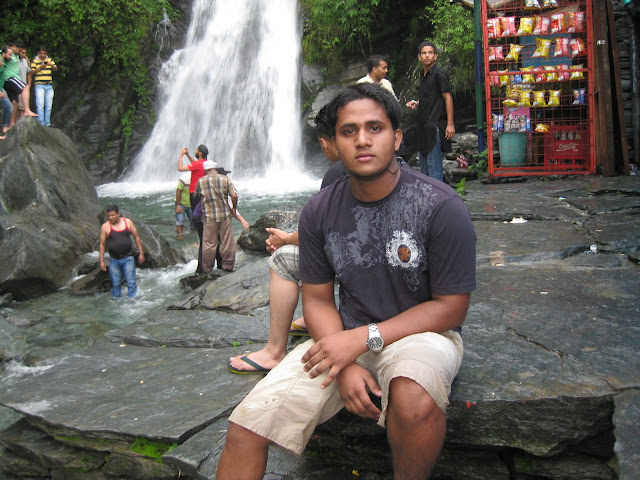 shashank in waterfall