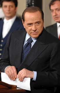 Silvio Berlusconi twice lost out to Prodi in Italian elections