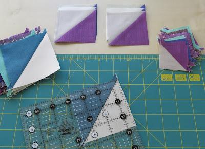 Luna Lovequilts - Heart mini quilts - Work in progress