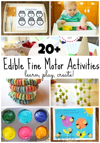 edible fine motor skills ideas