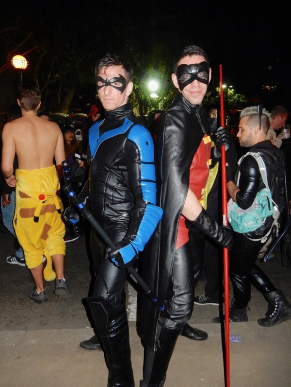 Nightwing Robin costumes West Hollywood Halloween
